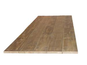 Recht blad van steigerhout