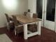 steigerhouten tafel met gelakt verstekblad
