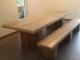 Eettafel van steigerhout met blokpoten